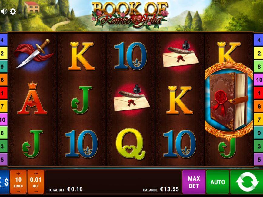 Play free casino slot Book of Romeo and Julia