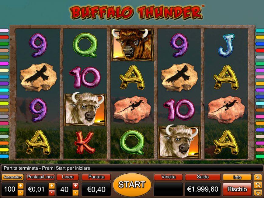 No deposit game Buffalo Thunder online