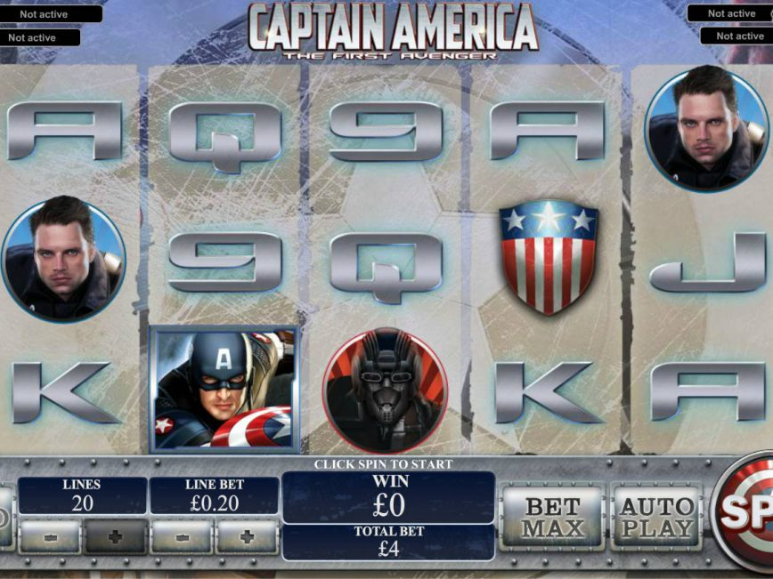 Spin online free slot Captain America