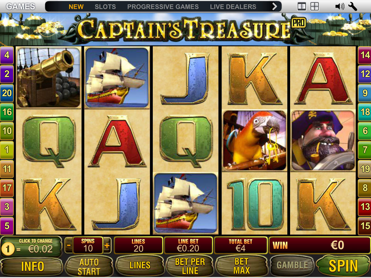 Spiele CaptainS Treasure - Video Slots Online