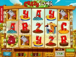 Spin slot machine Crazy Cows online