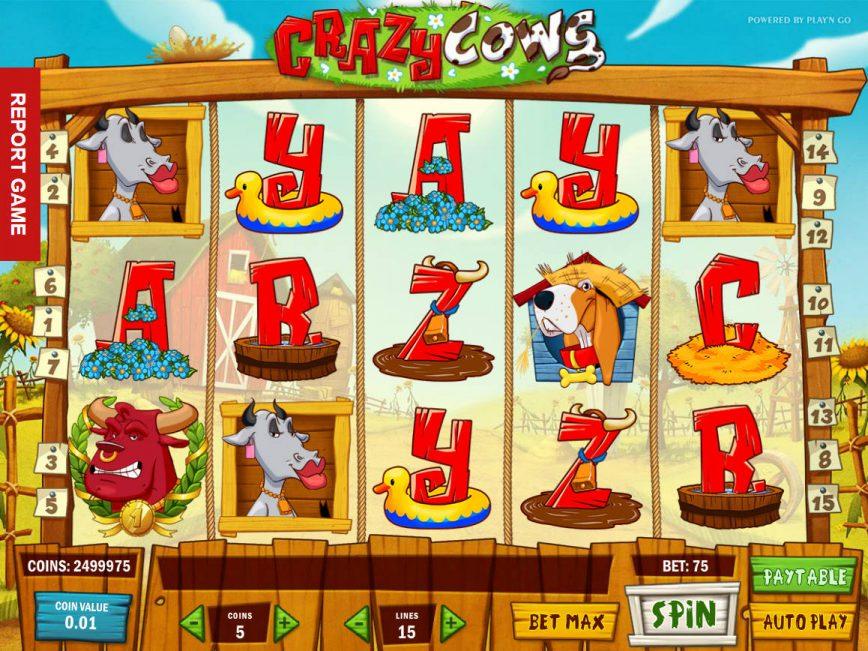 Spin slot machine Crazy Cows online