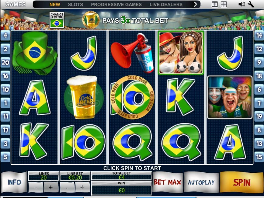 Spin slot game Football Fans online