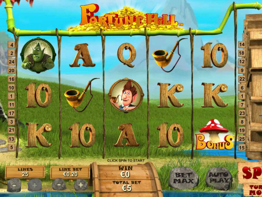 Spin casino game Fortune Hill online