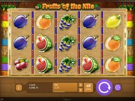 Play free online slot Fruits of the Nile