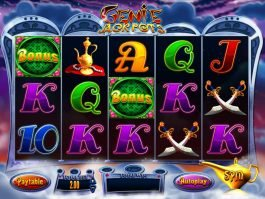 Play online slot machine Genie Jackpots for free