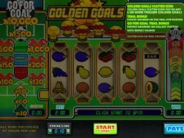 Slot machine for fun Golden Goals