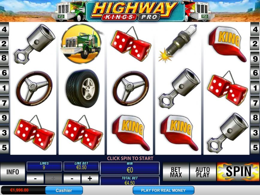 Spin slot machine Highway Kings Pro by Playtech