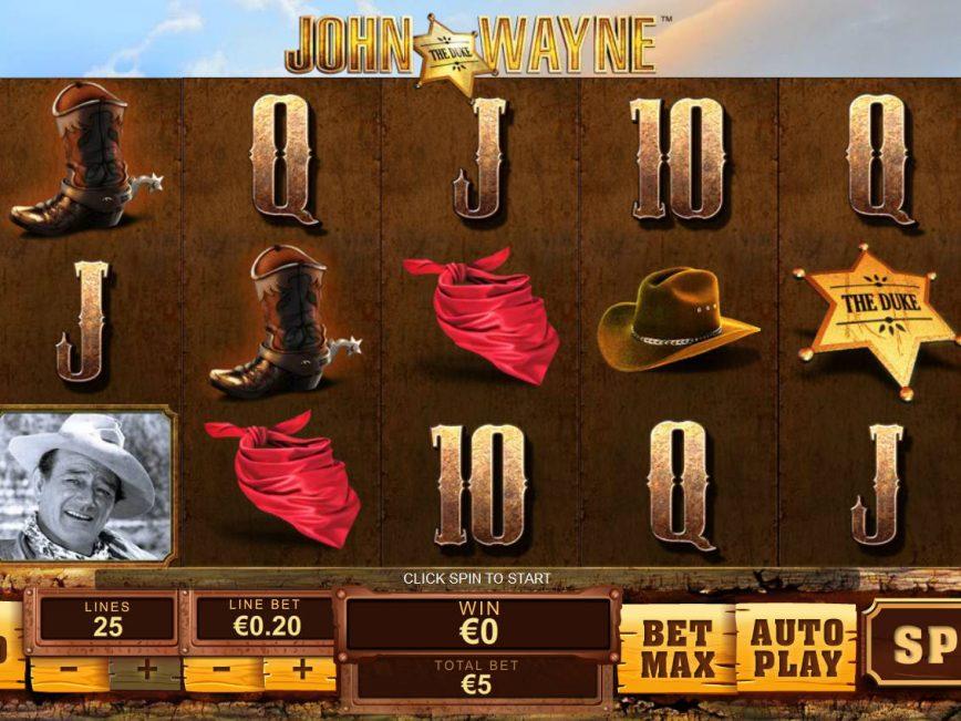 Spin slot machine John Wayne online