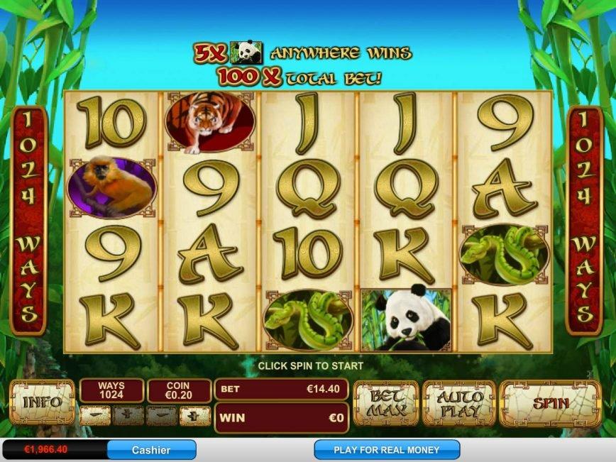Play free casino slot Lucky Panda