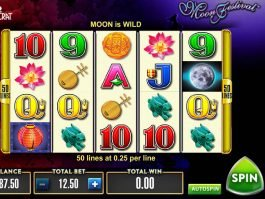 Spin online casino game Moon Festival for free