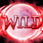 Wild symbol from online slot game Moon Shadow