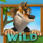 Wild symbol from free slot Piggies and the Wolf
