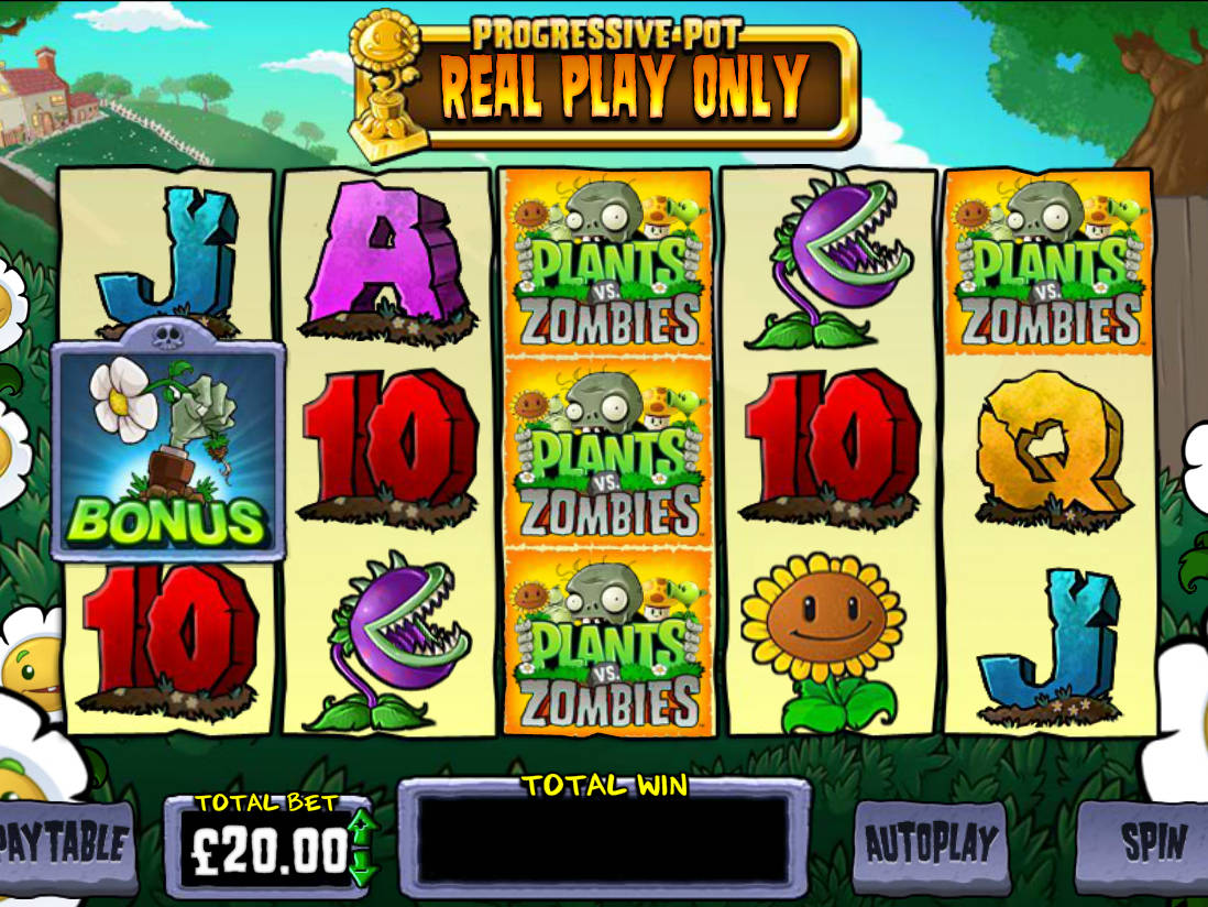 Plants Vs Zombies Blueprint Gaming Slot Machine