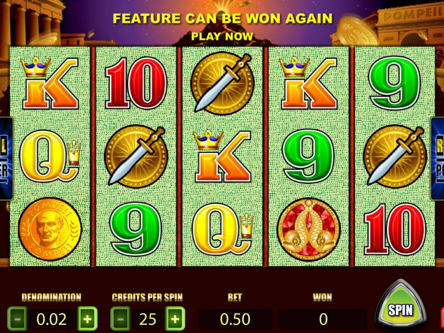 Picture form casino game Pompeii online