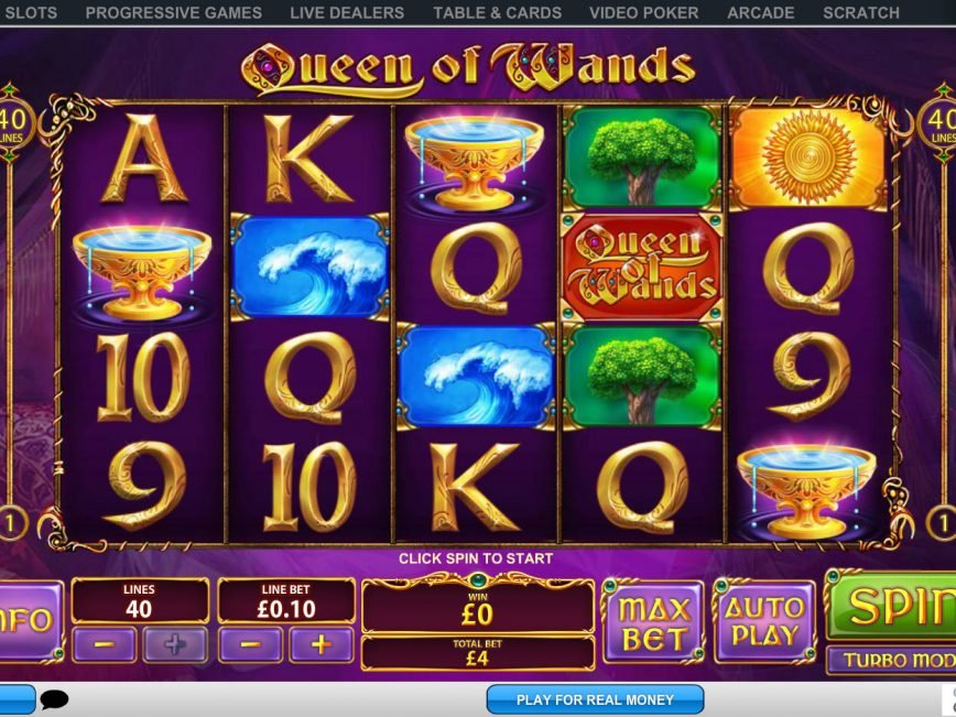 Spin slot machine Queen of Wands for fun