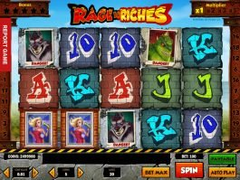 Casino free slot Rage to Riches by Play'n Go