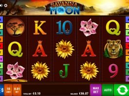 Picture from online slot game Savanna Moon