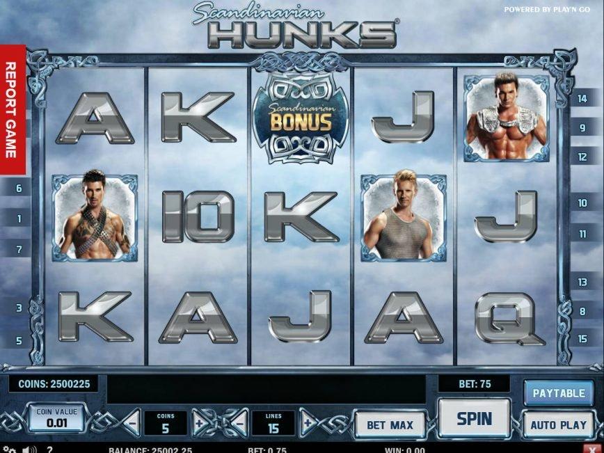 Free slot machine Scandinavian Hunks