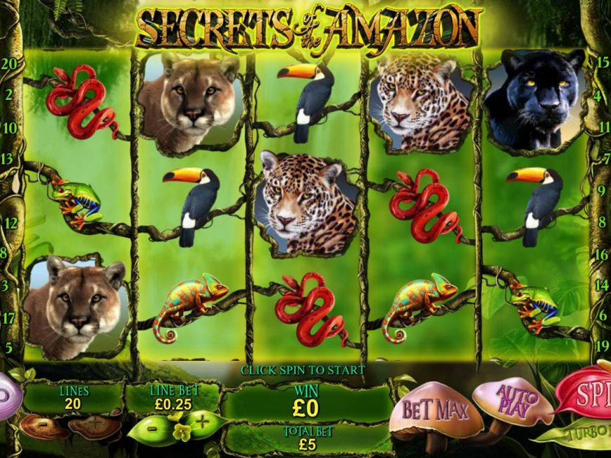 Secrets of the Amazon free slot