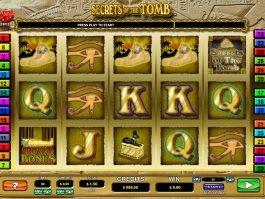 Slot machine Secrets of the Tomb no deposit