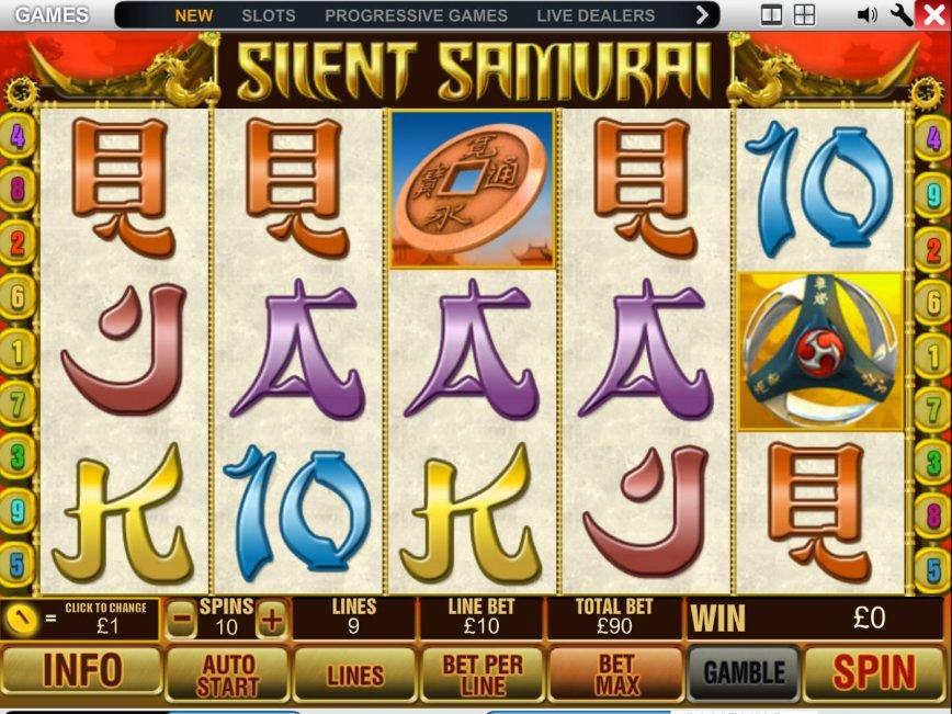 Picture from casino game Silent Samurai
