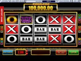Free slot machine Super Spins Bar X Gold no deposit