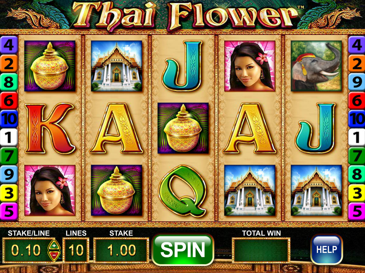 thai flower slot machine play free online game slotu you will definitely enjoy playing free thai flower slot at home the game has been crafted by barcrest and comes in 5 reel 10 payline configuration izmirmasajfo