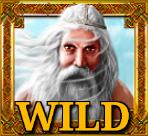Wild-Symbol des Casino-Spiels The Land of Heroes