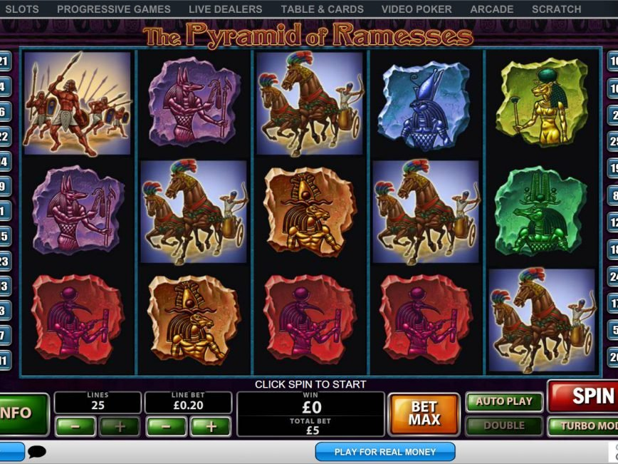 Online slot machine The Pyramid of Ramesses by Playtech