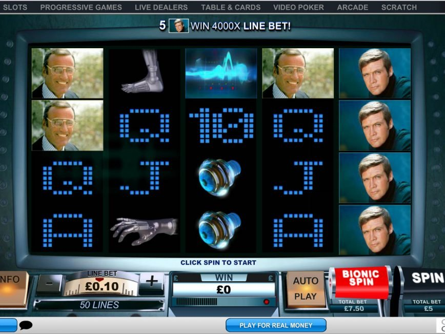Casino online slot The Six Million Dollar Man