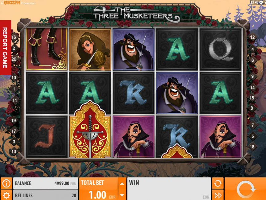 Online free slot The Three Musketeers