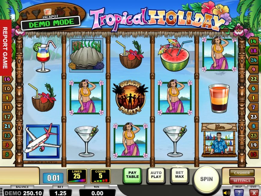 Online free slot Tropical Holiday no deposit