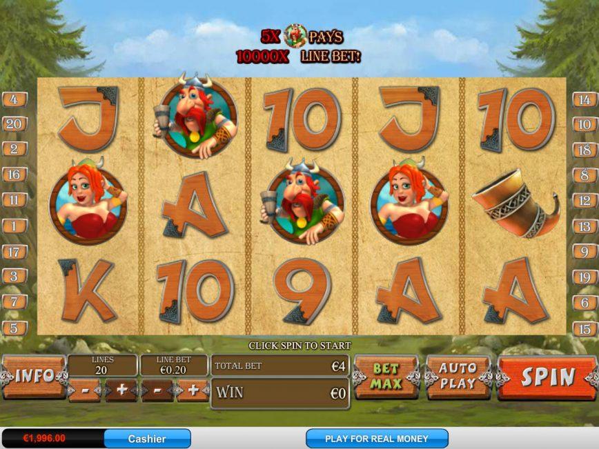 No deposit game Viking Mania online