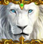 Wild symbol from online slot game White King