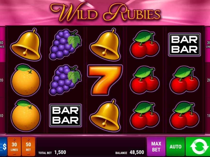 Free online slot Wild Rubies for fun