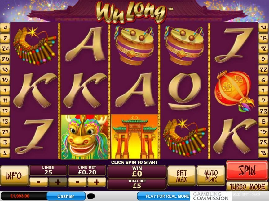 Spin casino free slot Wu Long online
