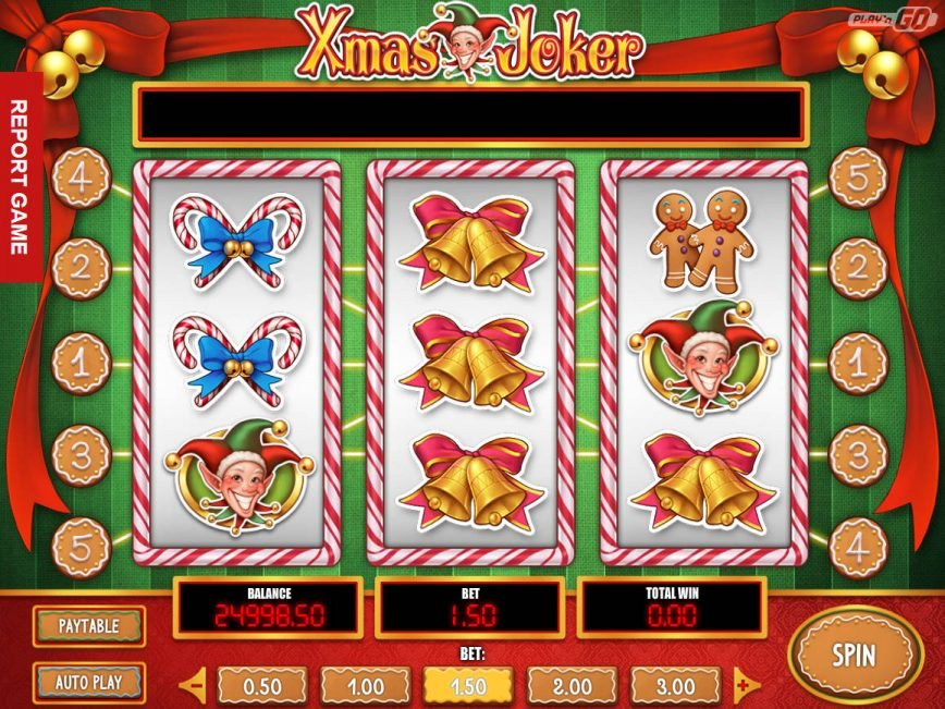 Online casino slot for fun Xmas Joker
