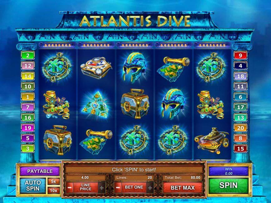 Atlantis Dive casino online slot