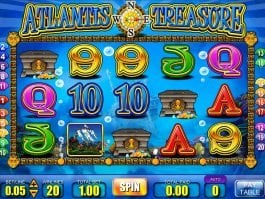 Casino online slot game Atlantis Treasure