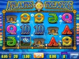 Casino online slot game Atlantis Treasure