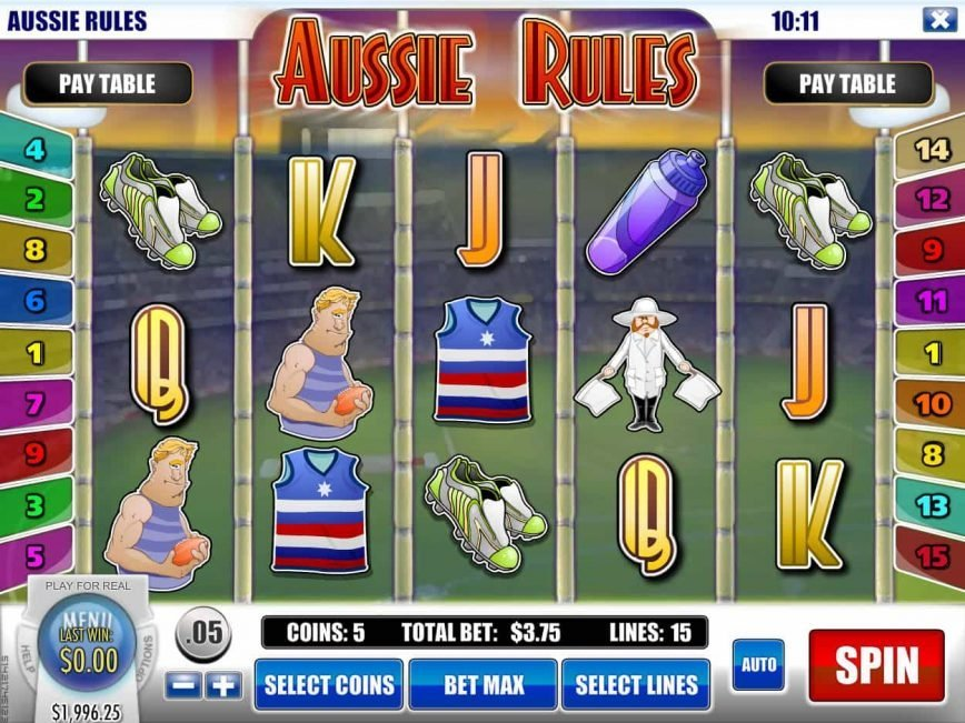 Slot Aussie Rules by Rival Gaming