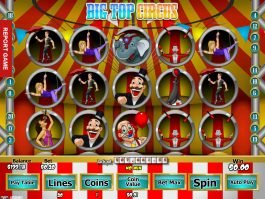 Free slot machine Big Top Circus online