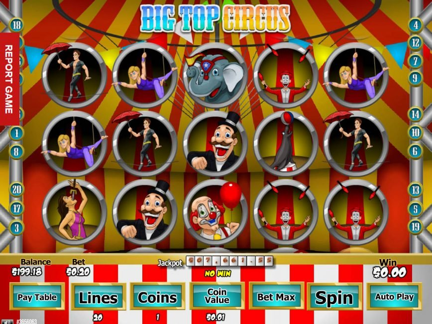 Free slot machine Big Top Circus online