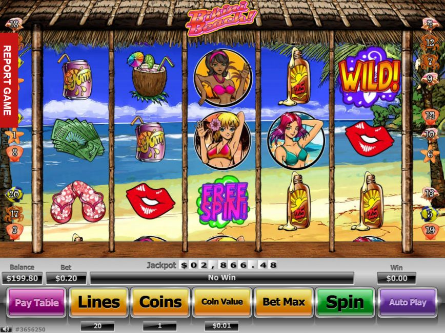 Picture from casino game Bikini Beach online