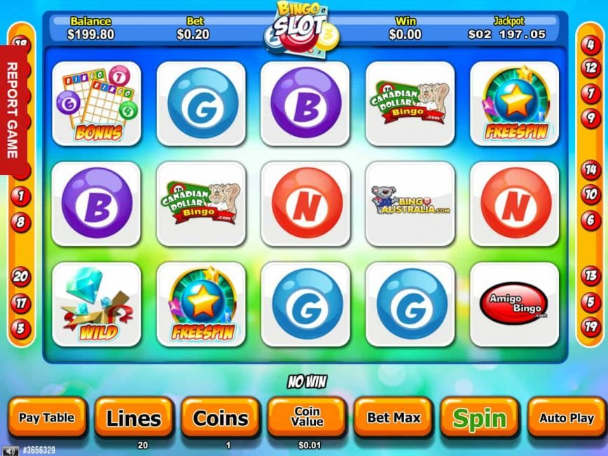 Online slot machine Bingo Slot for free