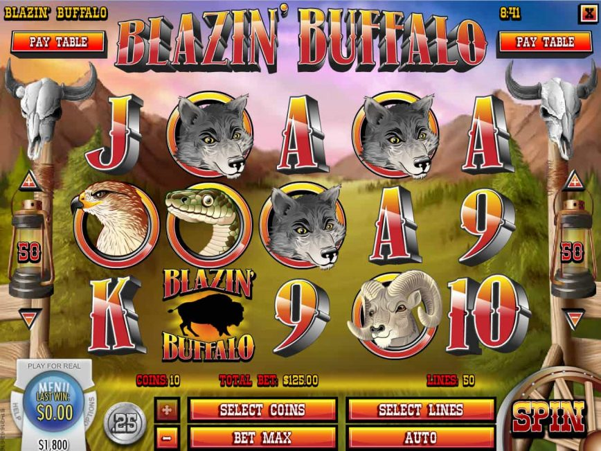 Blazin' Buffalo slot for fun