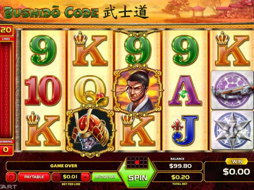 Play free online slot Bushido Code