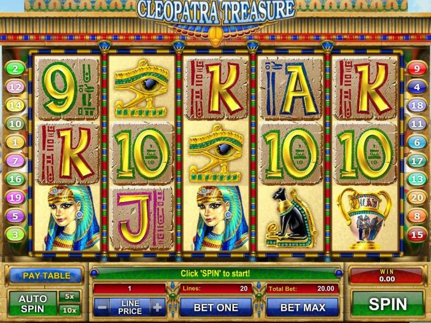 Play casino free slot Cleopatra Treasure for fun