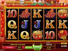 Play casino slot machine Dancing Lions online